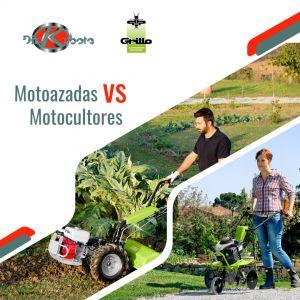 Motoazadas vs motocultores