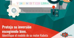 ¿Cómo identificar el modelo de motor Kubota que necesita?